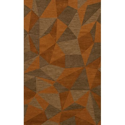 Bella Orange/Brown  Area Rug Rug Size: 5 x 8