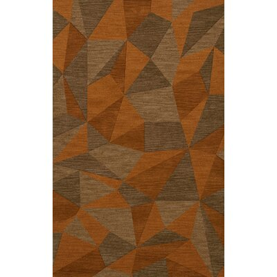 Bella Machine Woven Wool Orange/Brown  Area Rug Rug Size: Rectangle 12 x 15