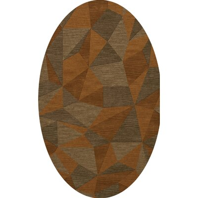 Bella Orange/Brown  Area Rug Rug Size: Oval 8 x 10