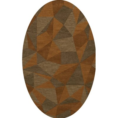 Bella Orange/Brown  Area Rug Rug Size: Oval 3 x 5