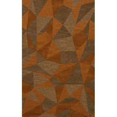 Bella Orange/Brown  Area Rug Rug Size: 12 x 18