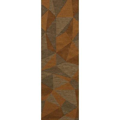 Bella Machine Woven Wool Orange/Brown  Area Rug Rug Size: Runner 26 x 10