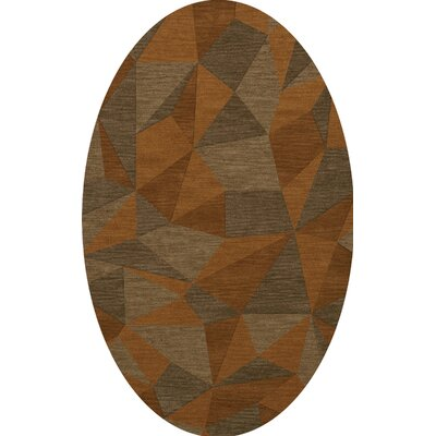Bella Orange/Brown  Area Rug Rug Size: Oval 6 x 9