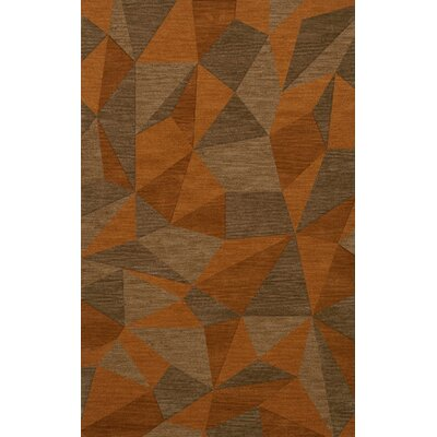 Bella Orange/Brown  Area Rug Rug Size: 8 x 10