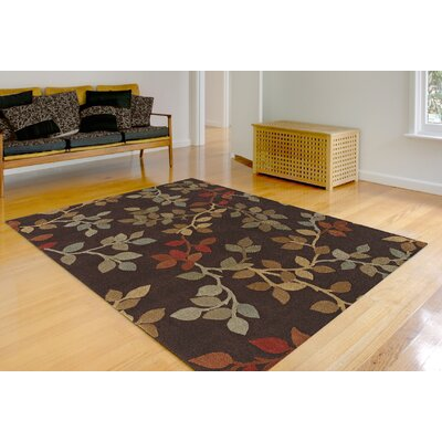 Capri Chocolate Area Rug Rug Size: Rectangle 53 x 77