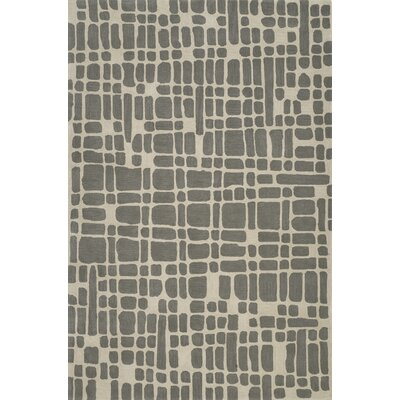 Journey Hand-Tufted Pewter Area Rug Rug Size: Rectangle 36 x 56