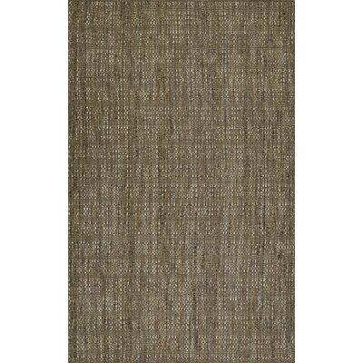 Nepal Hand-Loomed Mocha Area Rug Rug Size: Rectangle 8 x 10