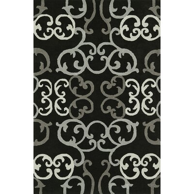 Journey Hand-Tufted Black Area Rug Rug Size: 9 x 13