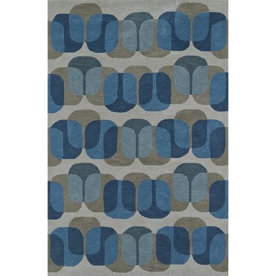 Journey Hand-Tufted Silver Area Rug Rug Size: 5 x 76