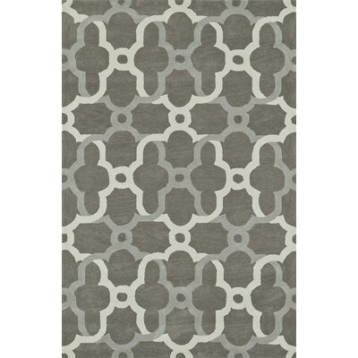 Journey Hand-Tufted Pewter Area Rug Rug Size: 36 x 56