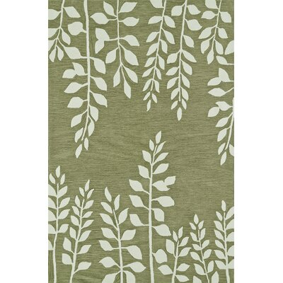 Journey Hand-Tufted Fern Area Rug Rug Size: 36 x 56