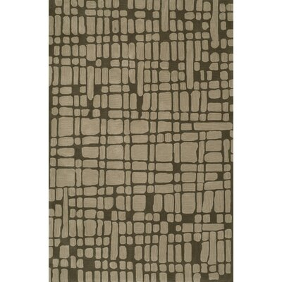 Journey Hand-Tufted Chocolate Area Rug Rug Size: 36 x 56