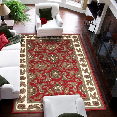 Bartonville Red Rug Rug Size: Rectangle 96 x 136