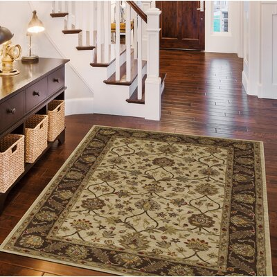 Jewel Ivory Rug Rug Size: Rectangle 3'6