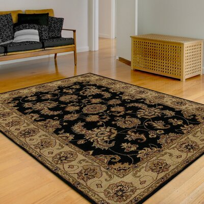 Standish Black Rug Rug Size: Rectangle 5 x 8