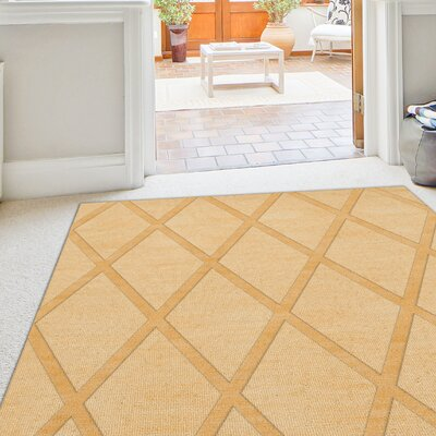 Dover Lemon Ice Area Rug Rug Size: Oval 8 x 10