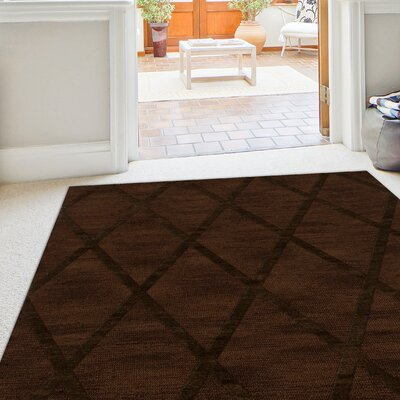 Dover Tufted Wool Fudge Area Rug Rug Size: Oval 5 x 8