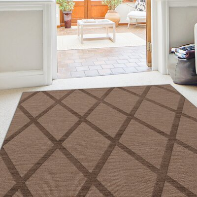 Dover Tufted Wool Stone Area Rug Rug Size: Oval 5 x 8