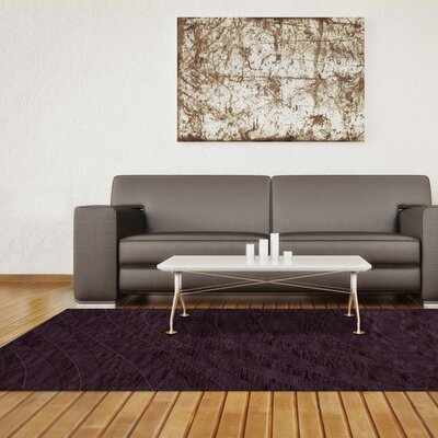 Dover Tufted Wool Grape Ice Area Rug Rug Size: Oval 3 x 5