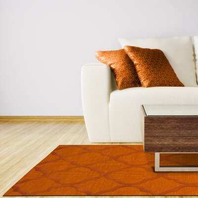 Dover Orange Area Rug Rug Size: Oval 9 x 12