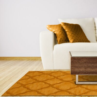 Dover Butterscotch Area Rug Rug Size: Oval 9 x 12