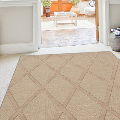 Dover Tufted Wool Linen Area Rug Rug Size: Square 12'
