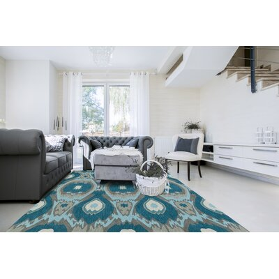Aloft Teal Area Rug Rug Size: Rectangle 9 x 13