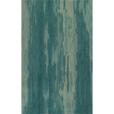 Delmar Hand-Tufted Aqua Area Rug Rug Size: Rectangle 8 x 10