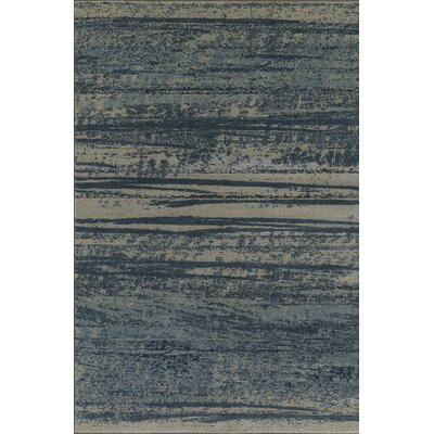 Upton Blue/Gray Area Rug Rug Size: Rectangle 53 x 77