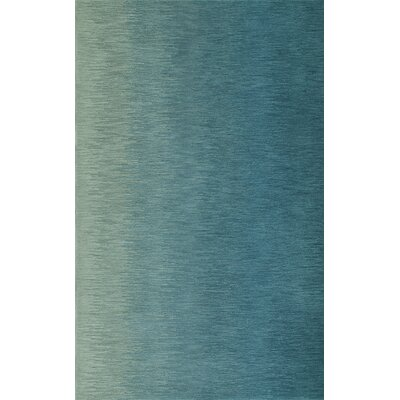 Delmar Hand-Tufted Aqua Area Rug Rug Size: Rectangle 5 x 76