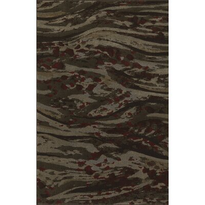 Upton Chocolate Area Rug Rug Size: 53 x 77