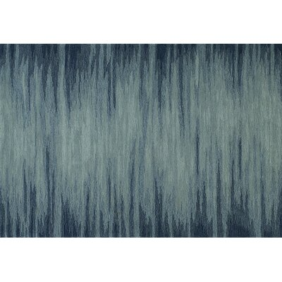 Delmar Hand-Tufted Denim Area Rug Rug Size: Rectangle 36 x 56