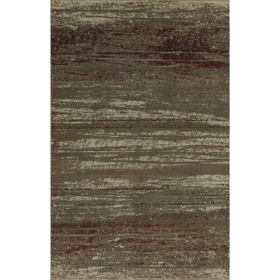 Upton Brown/Gray Area Rug Rug Size: 96 x 132