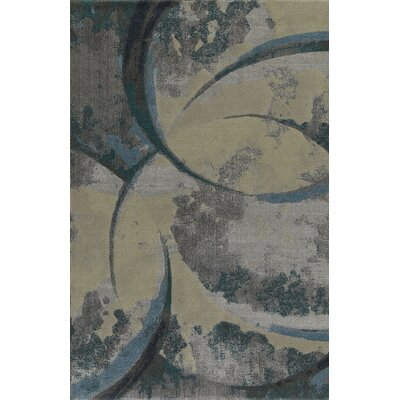 Upton Blue/Beige Area Rug Rug Size: Rectangle 53 x 77