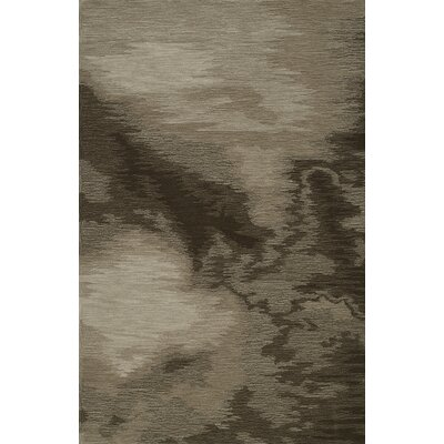 Delmar Hand-Tufted Chocolate Area Rug Rug Size: Rectangle 5 x 76