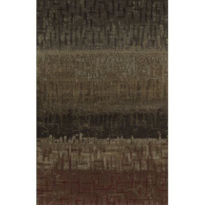 Upton Gray/Brown Area Rug Rug Size: 53 x 77