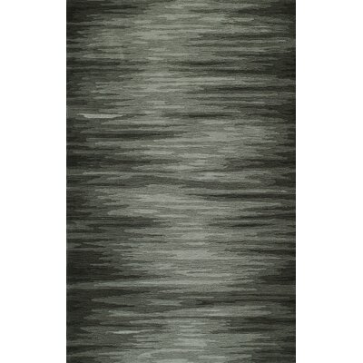 Delmar Hand-Tufted Graphite Area Rug Rug Size: Rectangle 36 x 56