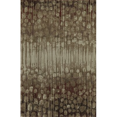 Upton Brown/Gray Area Rug Rug Size: 33 x 51