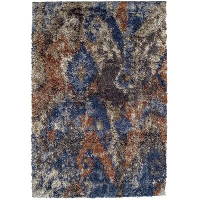 Zhora Blue/Brown Area Rug Rug Size: 33 x 51