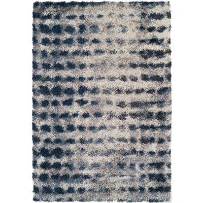 Zhora Shag Denim Area Rug Rug Size: 33 x 51