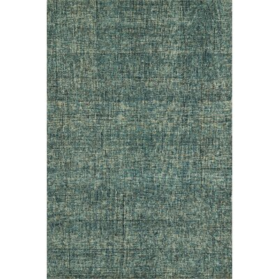 Gilboa Hand-Tufted Wool Turquoise Area Rug Rug Size: 36 x 56