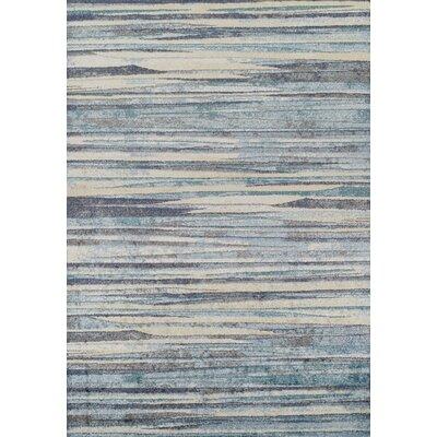 Milo Beige/Blue Area Rug Rug Size: 33 x 51