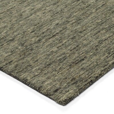 Glenville Hand-Woven Wool Carbon Area Rug Rug Size: Rectangle 36 x 56
