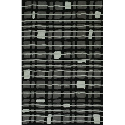 Gorham Hand-Woven Black Area Rug Rug Size: Rectangle 5' x 7'6