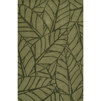 Gorham Hand-Woven Fern Area Rug Rug Size: Rectangle 36 x 56