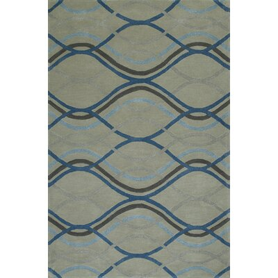 Gorham Hand-Woven Steel Area Rug Rug Size: Rectangle 5 x 76