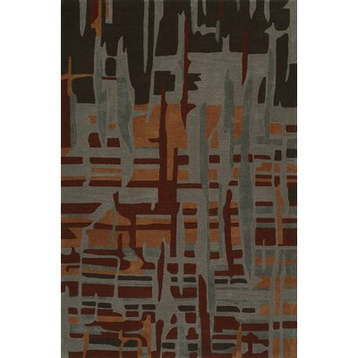 Gorham Hand-Woven Canyon/Gray Area Rug Rug Size: Rectangle 36 x 56