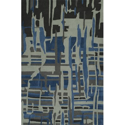 Gorham Hand-Woven Steel/Blue Area Rug Rug Size: Rectangle 8 x 10