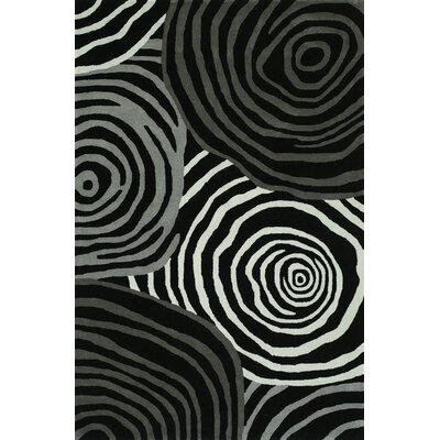 Gorham Hand-Woven Black Area Rug Rug Size: Rectangle 36 x 56