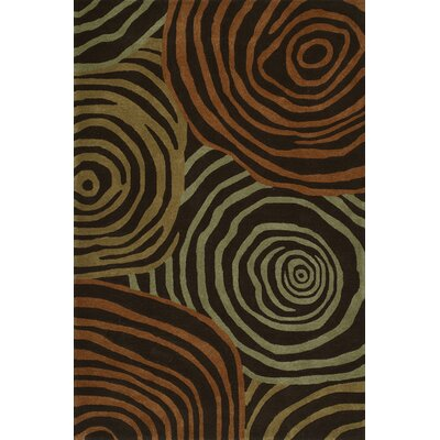 Gorham Hand-Woven Chocolate Area Rug Rug Size: Rectangle 36 x 56